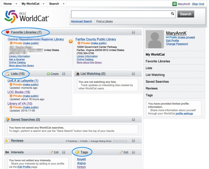 Secret Weapon: WorldCat for Genealogy Profile Page