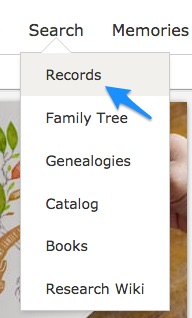 Browsing by Location at FamilySearch