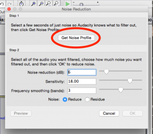 Noise Reduction in Audacity