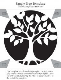 CollectingCousins: Family Tree Pumpkin Template