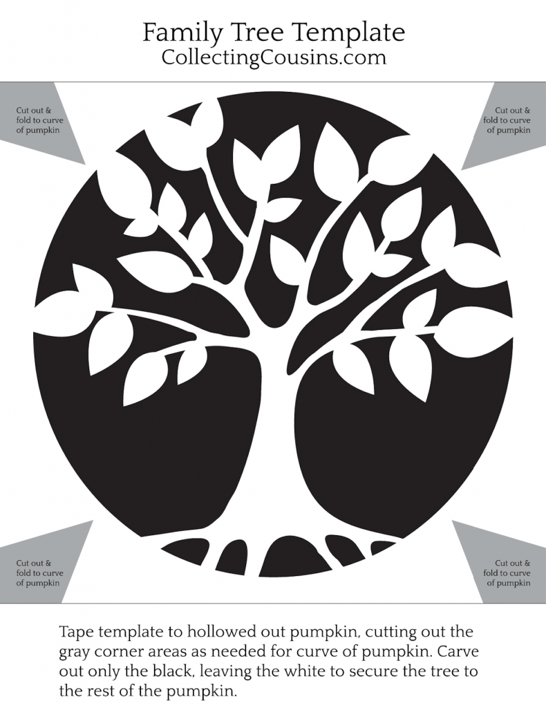 Family Tree Pumpkin Template | Collecting Cousins